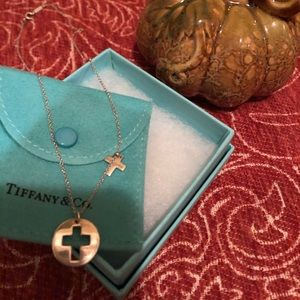 Tiffany &Co Rare Cross cut out Necklace
